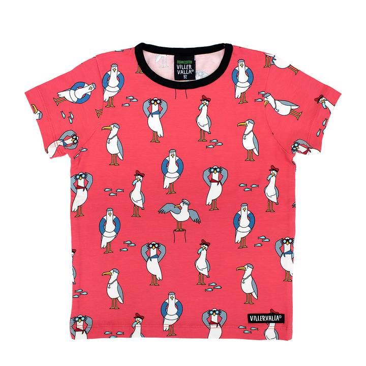 Villervalla seagull t-shirt tulip