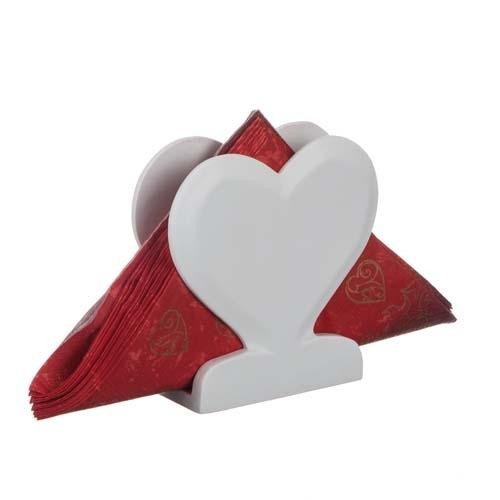 Different design servettställ hjärta