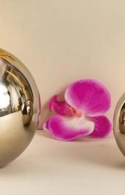 Lind decoration rostfria silverklot