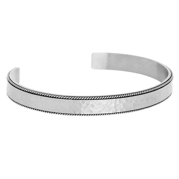 Bybillgrens armband hamrad stål