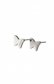 Bud to rose butterfly earring steel