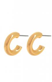 Dansk copenhagen infinity circle guld earring