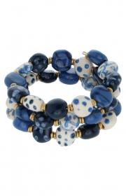 Kazuri bracelet mid blue ssb